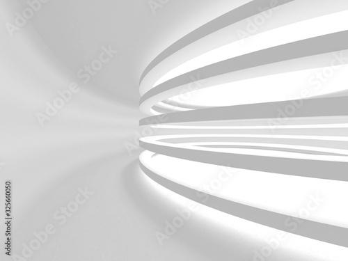 Fototapeta Abstract White Architecture Design Concept. 3d Render Illustration obraz