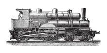 Old Locomotive / Vintage Illus...