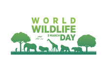 World Wildlife Day Logo Vector...