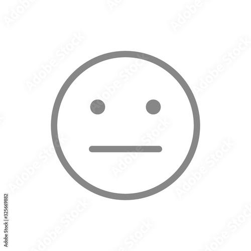 Fényképezés Expressionless emoji line icon