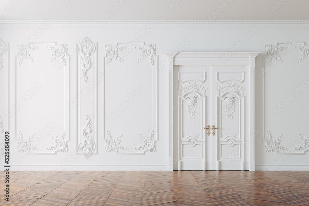 Obraz 3d render of beautiful vintage interior fototapeta, plakat