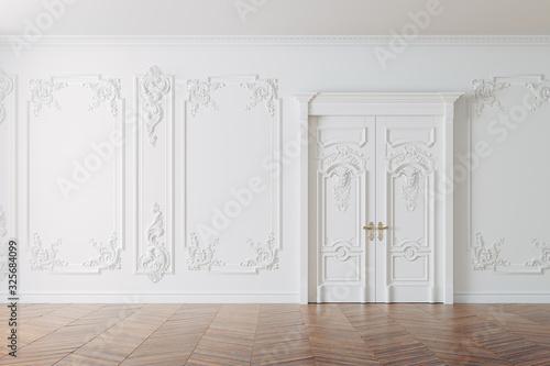 Fototapeta 3d render of beautiful vintage interior obraz