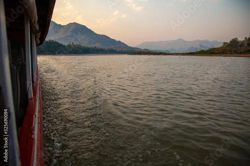 Foto Sunset on Mekong river, Luang Prabang, Laos