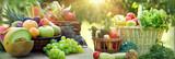 Healthy food, healthy eating, vegetarian food, a vegetarian diet consists of organic fruits and vegetables