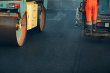 Asphalt Paving. Paver Machine ...