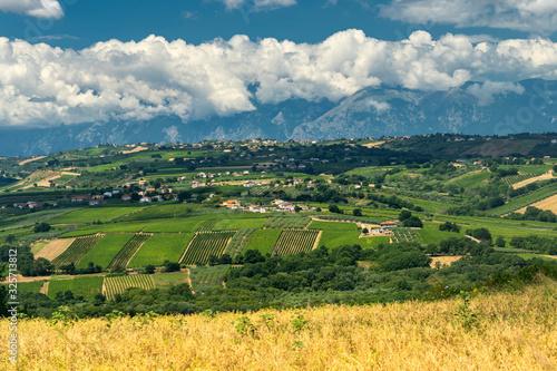 Rural landscape near Vasto, Abruzzo Wallpaper Mural
