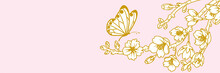 Butterfly And Cherry Blossom T...