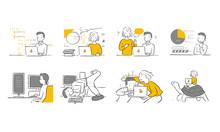 Various Working Vector Illustr...