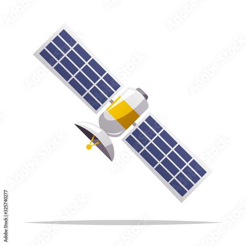 Cuadros en Lienzo Cartoon satellite vector isolated illustration