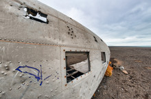 The Epic Plane Wreck On The Black Beach In Southern Iceland