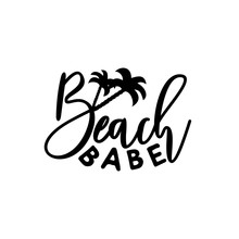 Beach Babe Calligraphy With Pa...