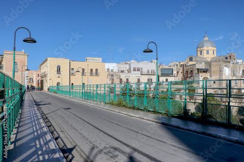 Obraz na plátně View of the Garibaldi bridge of Massafra, Taranto, Puglia, Italy