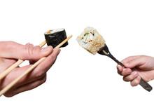 Fork Against Chinese Chopsticks