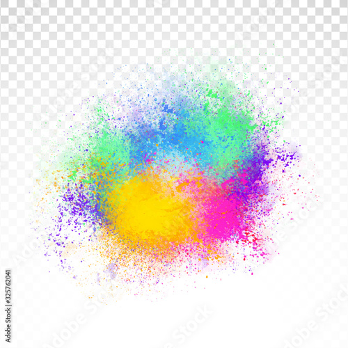 Fototapeta Abstract rainbow color splash on PNG background