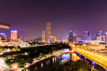 Singapore Downtown Core At Nig...