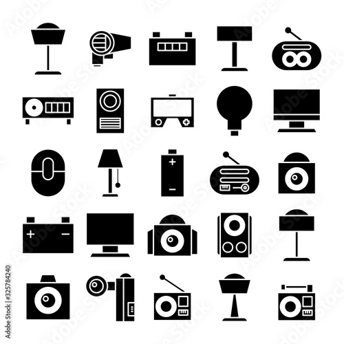 Photo electronic device and appliance icons
