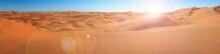 Big Sand Dunes Panorama. Deser...