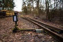 A Railroad Switch In The Forest
