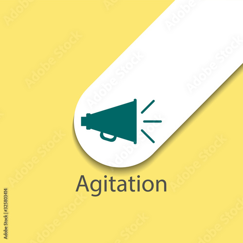 agitation colorful flat vector icon with shadow Canvas Print