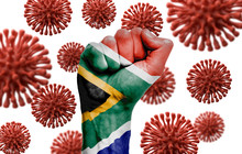 South Africa Flag Fist Fightin...