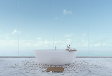 Luxury Bathroom With Sea View ...