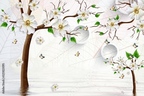 Fototapeta kwiaty   3d-wallpaper-luxury-floral-jawelry