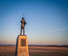 Infantry Solider Monument In Gettysburg