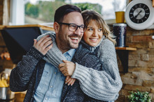 Portrait Of Embraced Couple In...