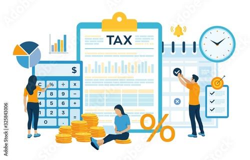 Fotografía Concept tax payment