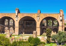 Ancient Forum Basilica Constantine Rome Italy
