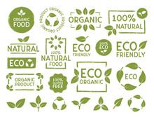 Set Of Eco, Bio, Organic And N...