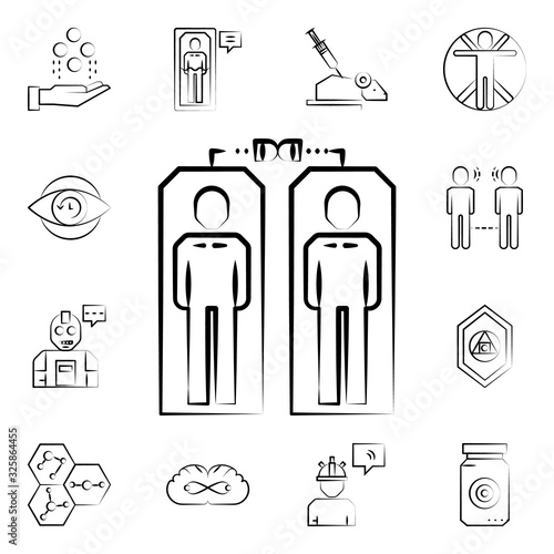 Clones icon. Mad science icons universal set for web and mobile Canvas Print