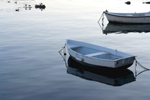Two Small Fishing Boats In Sha...