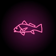 Black Drum Neon Icon. Simple T...