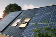 Solar Panels On The Roof, 3D I...