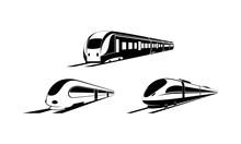 Train Simple Modern Set Vector