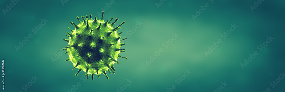 Fototapeta Coronavirus or Flu virus - Microbiology And Virology Concept