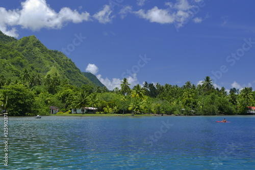 Carta da parati sur le lagon tahitien