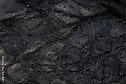 Fototapeta black rock background obraz na płótnie