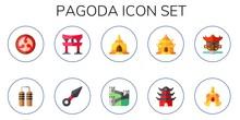Pagoda Icon Set