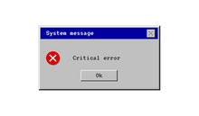 Critical Error. System Message Window Old Style. Virus Popup Icon. Vector Pc Alert. Pixel Interface