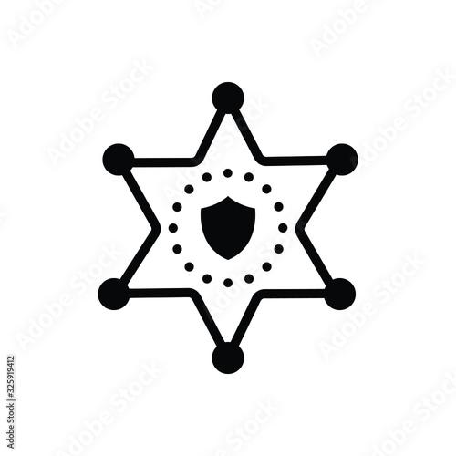 Obraz na plátne Black solid icon for deputy