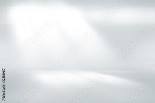 Fototapety, obrazy: soft gray studio room background, grey floor backdrop with spotlight.