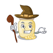 A Mascot Concept Of Cashew Butter Performed As A Witch