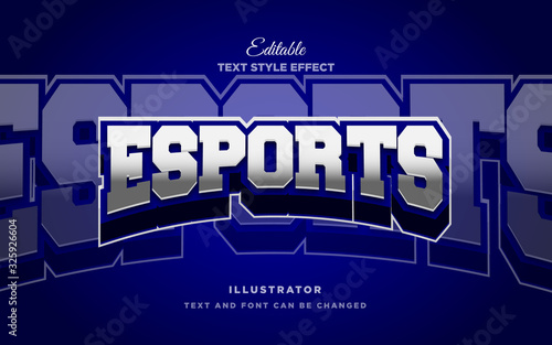 Photographie Esport 3d text style effect