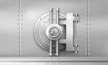 Bank Safe And Vault Door, Meta...