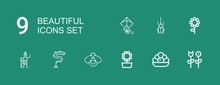 Editable 9 Beautiful Icons For...