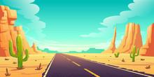 Desert Landscape With Road, Ca...