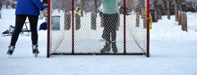 Skating On Outdoor Rink With H...