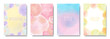 Set of frame, watercolor dots, vector illustration